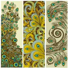 古典淡雅纹样条幅设计