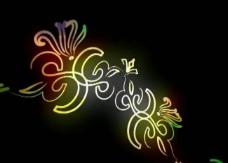 花纹光效背景视频素材图片