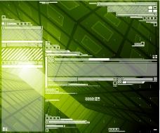 科技 背景 线条 绿色 渐变 空间 数码