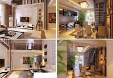 现代别墅 跃层装修效图片