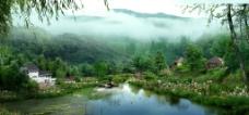 湿地庄园透视效果图图片