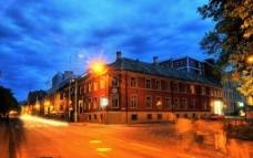 挪威夜景图片