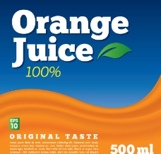 橙汁背景图片