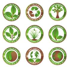 环保表示 徽章