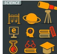 科学物理图标图片