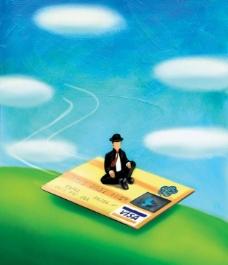 金融插画图片