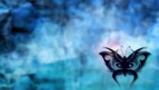 蓝色酷炫蝴蝶背景图片
