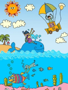 原创科幻类 儿童插画图片