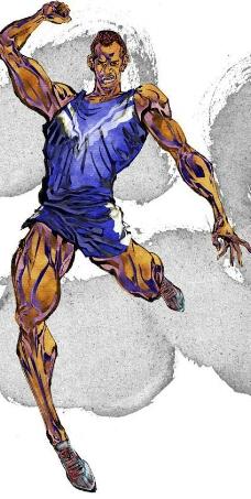 时尚运动人物水墨插画图片