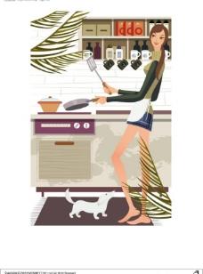 女性厨房生活图片