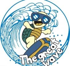 冲浪海龟图片
