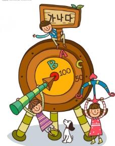 最新韩国儿童插画矢量1图片