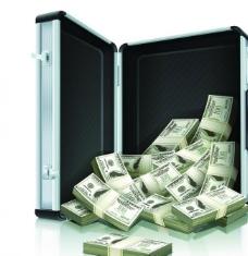 保险箱中的钞票图片