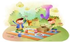 手绘 卡通 插画 英语教育图片