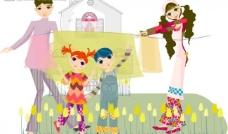 韩国插画,欢乐家庭系列图片