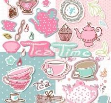 卡通茶图片