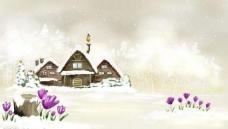 美丽的儿童插画背景图5图片