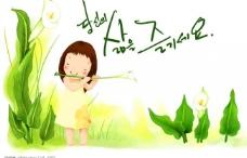 韩国可爱儿童插画-3图片