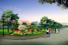 城市花园意向图图片