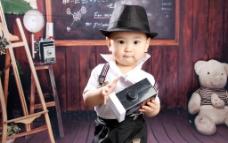 男孩摄影图片