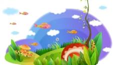 卡通鱼矢量素材图片