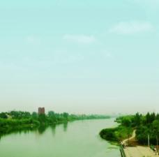 阜阳泉河风景带图片