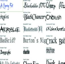 哈里波特电影里的字体