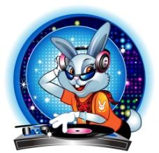 时尚卡通DJ兔图片
