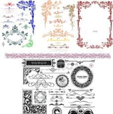 欧式花纹矢量图图片