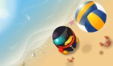 QQ奥运沙滩排球图片