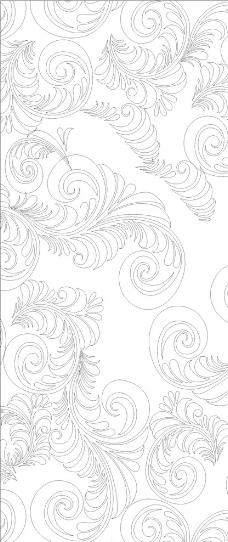 复古无缝图案,矢量花纹 欧式花纹 手绘花纹 传统花纹