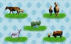 蒙古五种动物图片