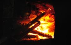 柴火灶台图片