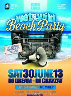 沙滩派对海报图片