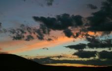 晚霞火烧云图片