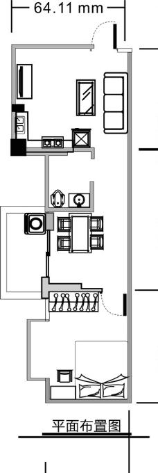 蛋糕店室内平面设计图展示