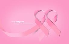 两个粉色艾滋病丝带
