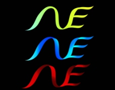 N E 字母变形图片