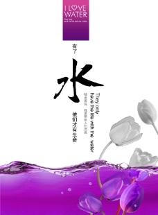水 郁金香图片