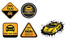 各类出租车卡通标识图片
