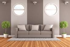 灰色主题沙发图片