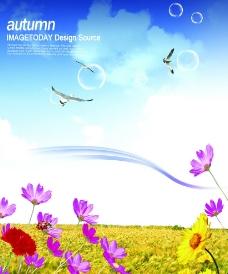 秋季清新风景广告素材图片