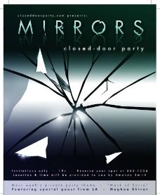 玻璃裂纹 宣传海报图片