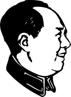 毛主席毛泽东头像矢量素材