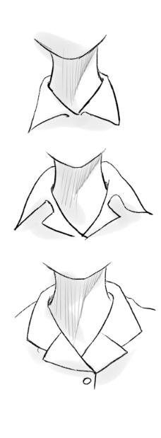 创意衬衫领子手绘