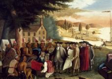 佩恩与印第安人的条约图片