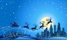 圣诞节雪景图片