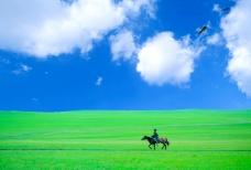 魅力草原,展现草原的广袤,天朗气清!