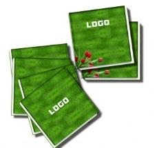 绿色鲜花招商宣传画册封面设计图片