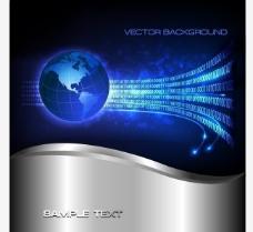 蓝色科技背景展板图片